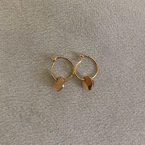 Brandy Melville Tiny Gold Circle Charm Earrings
